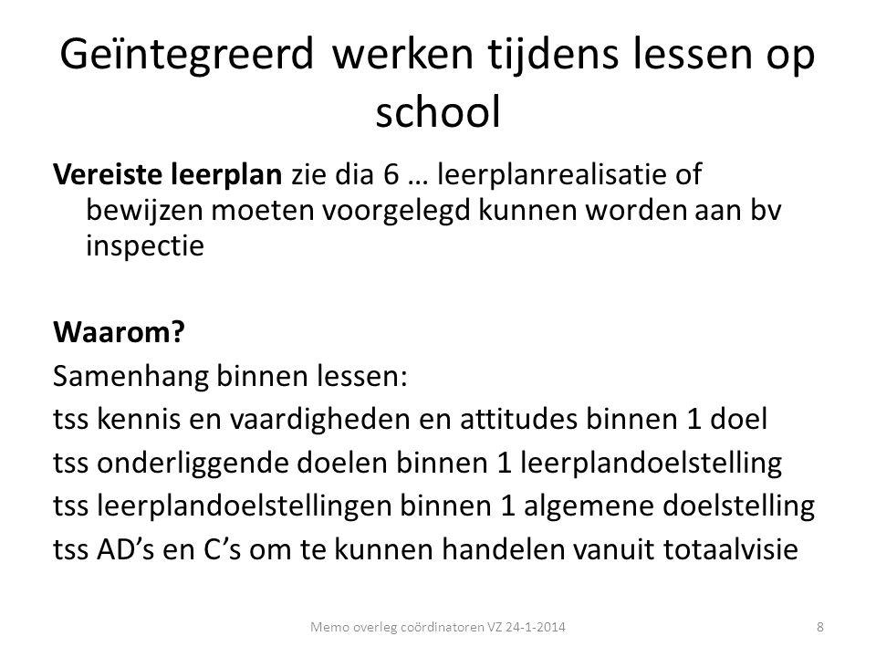 Geïntegreerd werken tijdens lessen op school