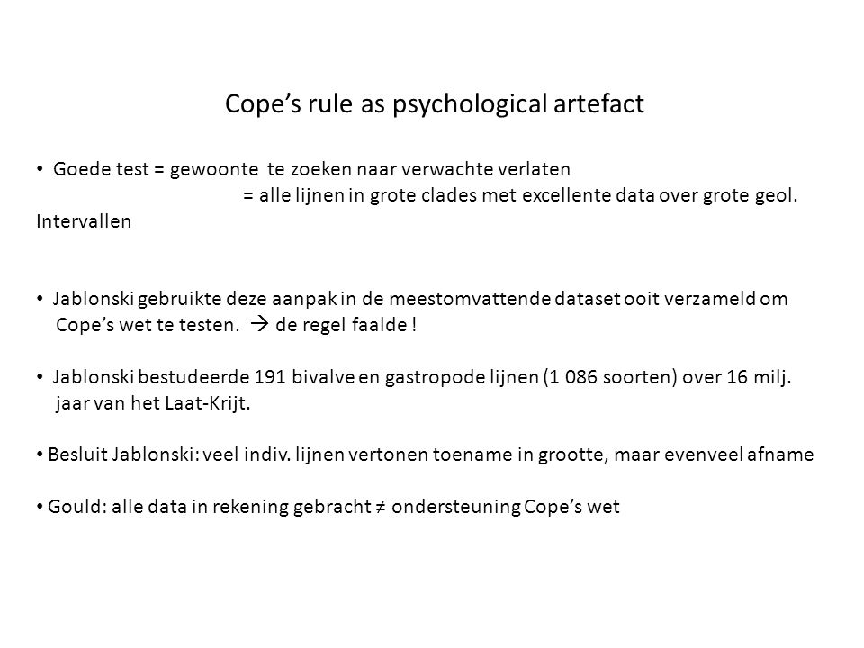 Cope's rule as psychological artefact