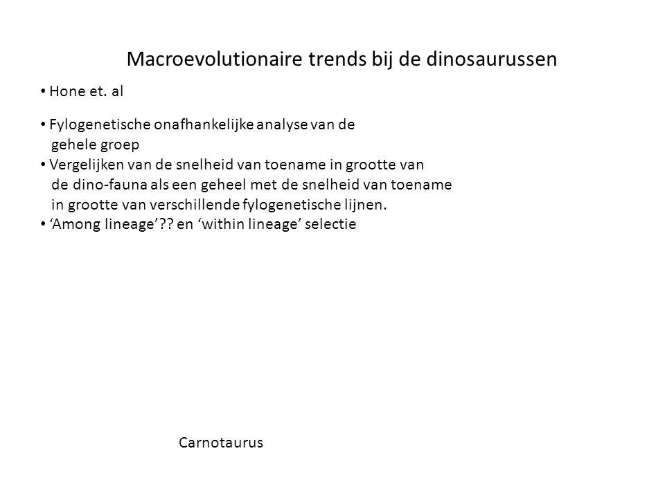 Macroevolutionaire trends bij de dinosaurussen