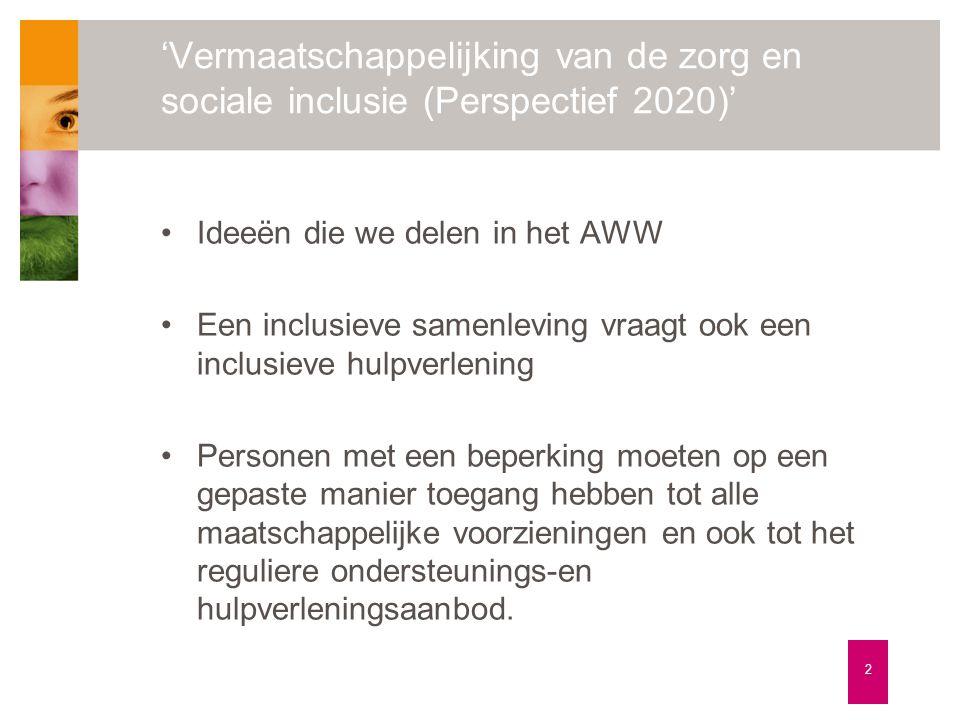 'Vermaatschappelijking van de zorg en sociale inclusie (Perspectief 2020)'