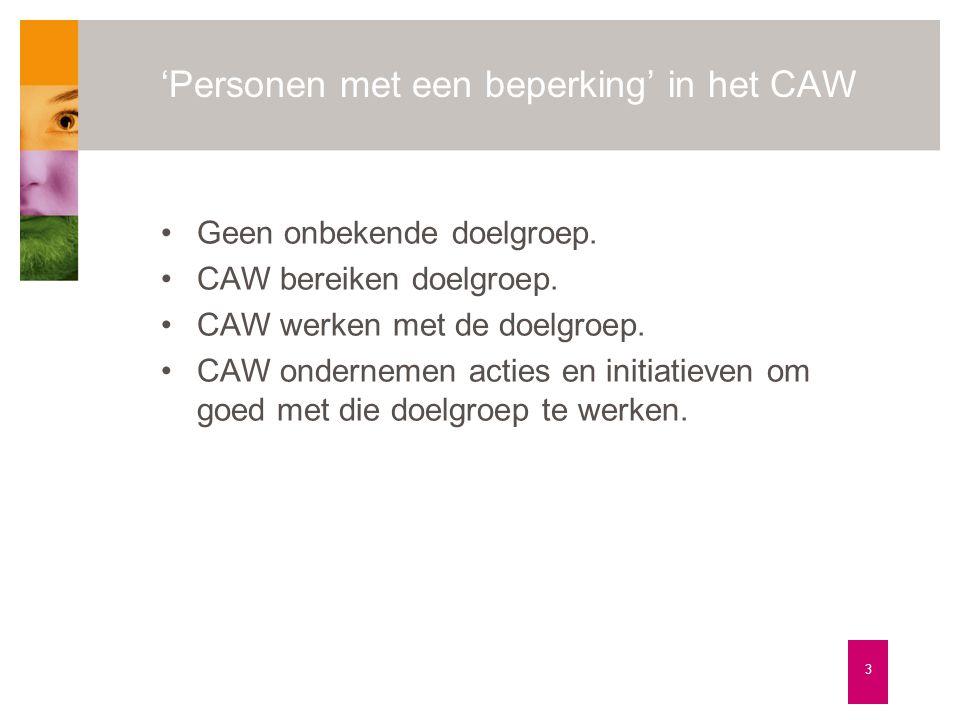 'Personen met een beperking' in het CAW