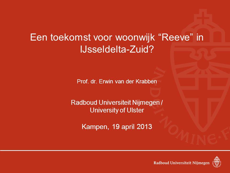 Een toekomst voor woonwijk Reeve in IJsseldelta-Zuid