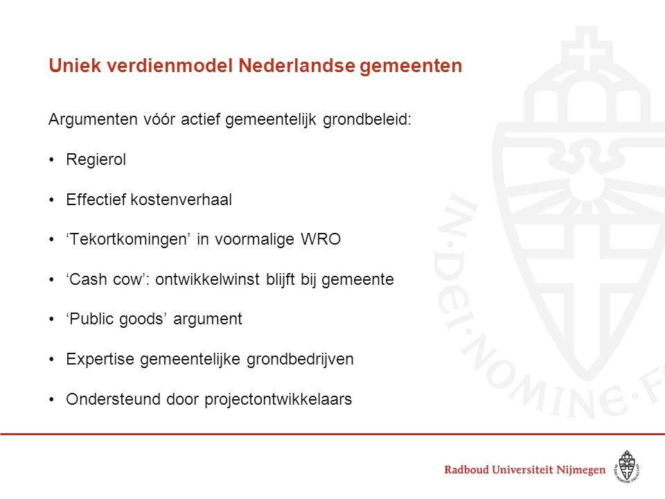 Uniek verdienmodel Nederlandse gemeenten