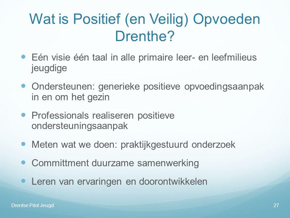 Wat is Positief (en Veilig) Opvoeden Drenthe