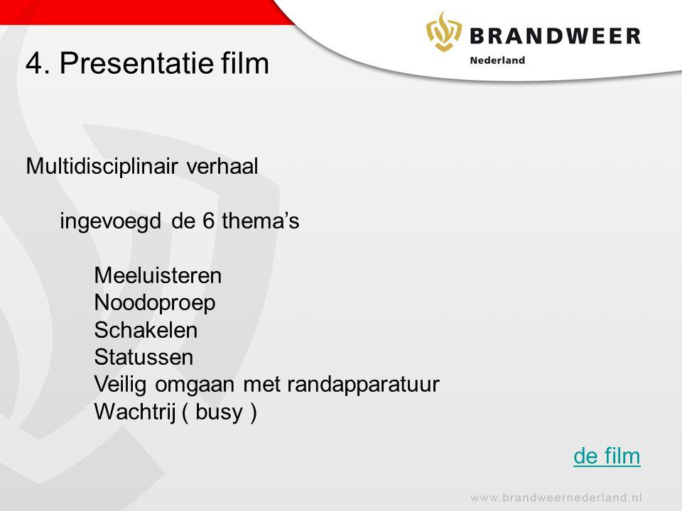 4. Presentatie film Multidisciplinair verhaal ingevoegd de 6 thema's