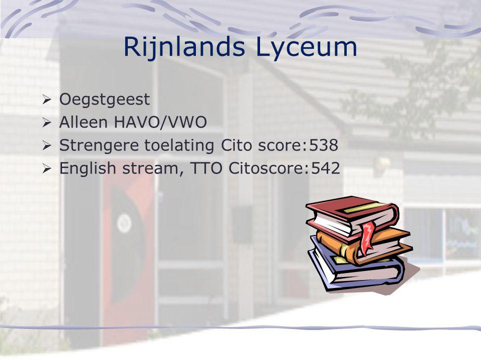 Rijnlands Lyceum Oegstgeest Alleen HAVO/VWO