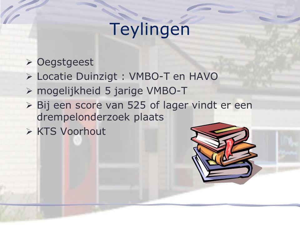 Teylingen Oegstgeest Locatie Duinzigt : VMBO-T en HAVO