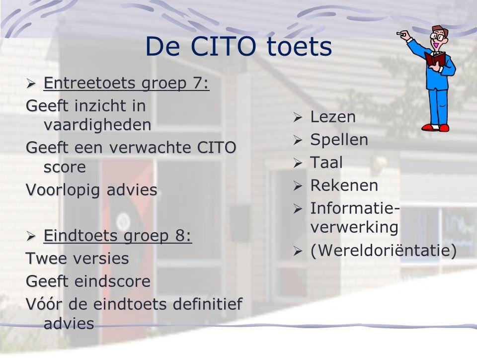 De CITO toets Entreetoets groep 7: Geeft inzicht in vaardigheden