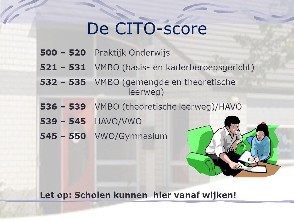 De CITO-score 500 – 520 Praktijk Onderwijs
