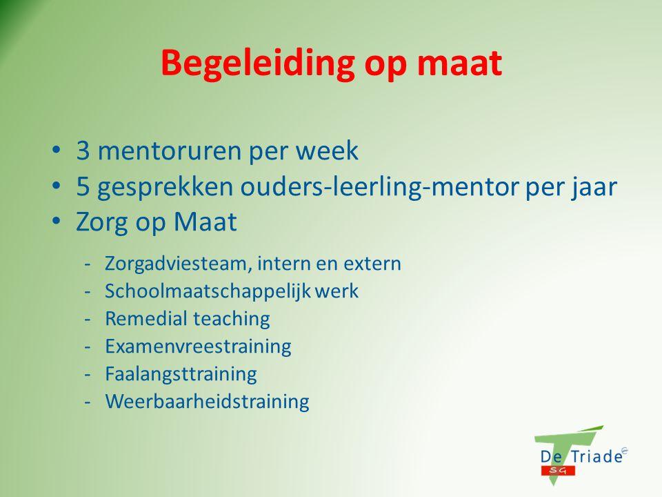 Begeleiding op maat 3 mentoruren per week