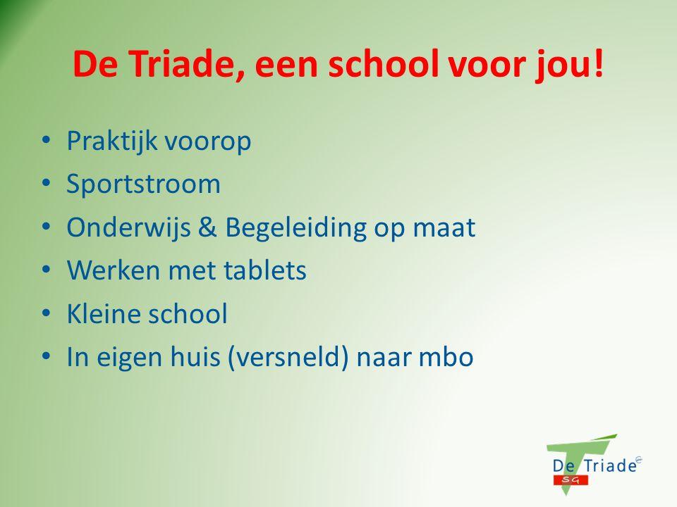 De Triade, een school voor jou!
