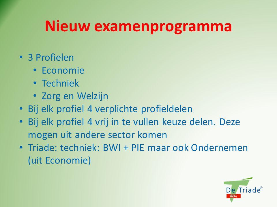Nieuw examenprogramma