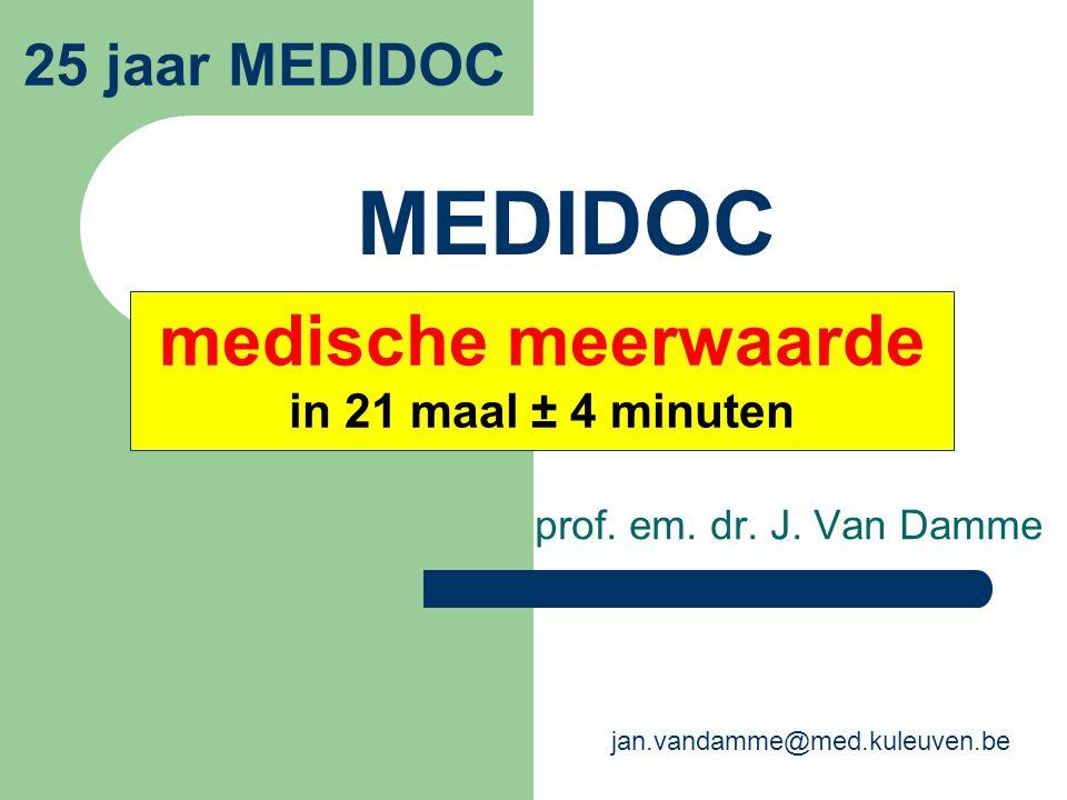 medische meerwaarde in 21 maal ± 4 minuten