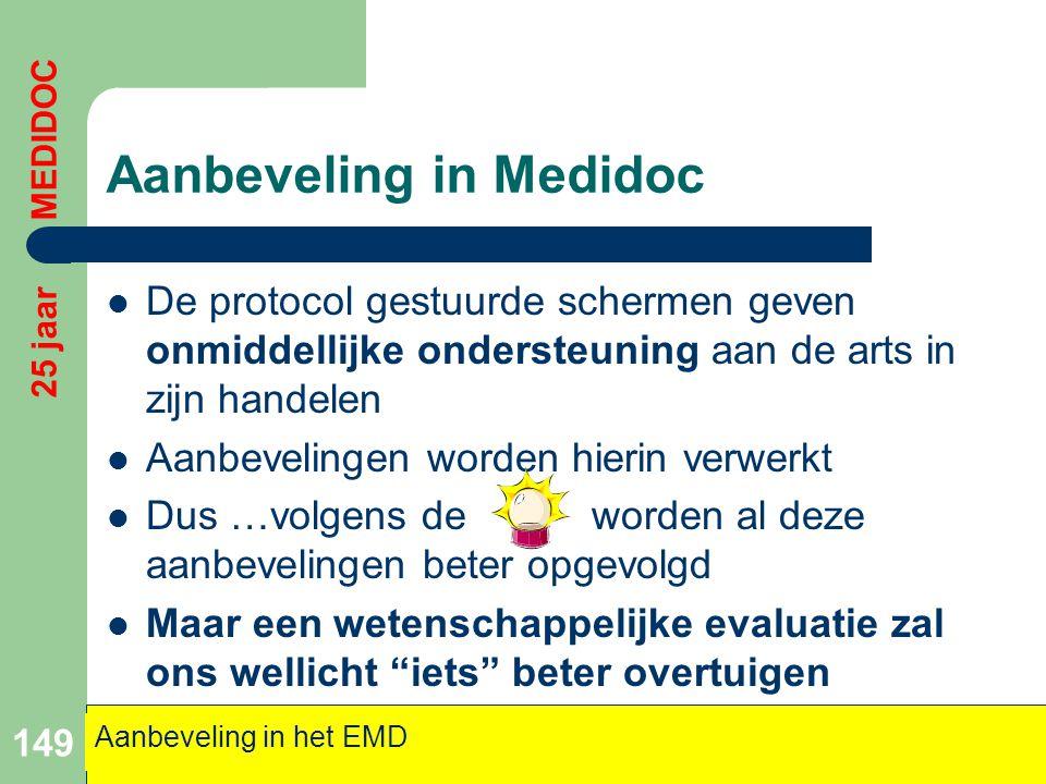 Aanbeveling in Medidoc