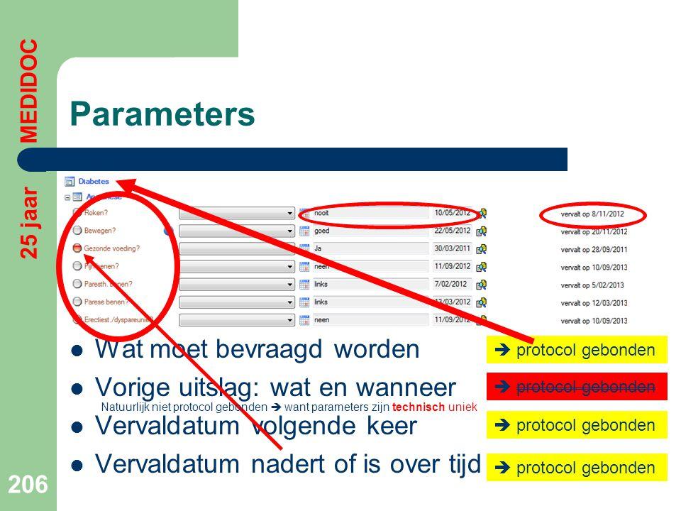 Parameters Wat moet bevraagd worden Vorige uitslag: wat en wanneer