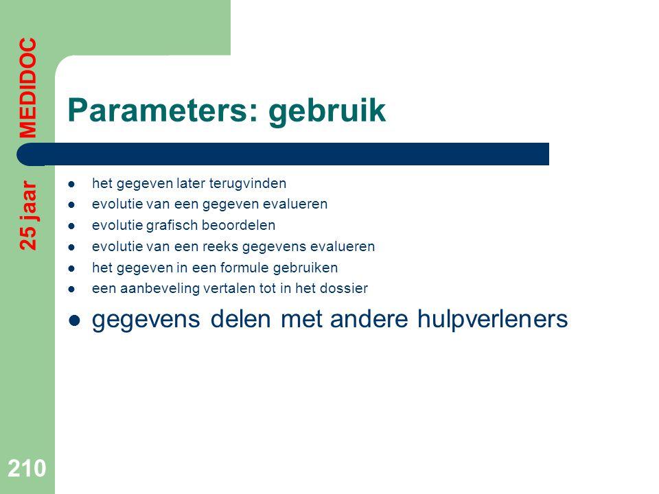 Parameters: gebruik gegevens delen met andere hulpverleners