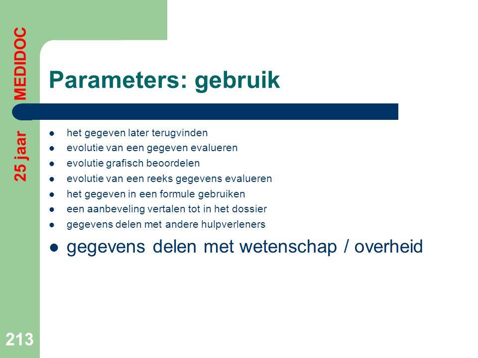Parameters: gebruik gegevens delen met wetenschap / overheid