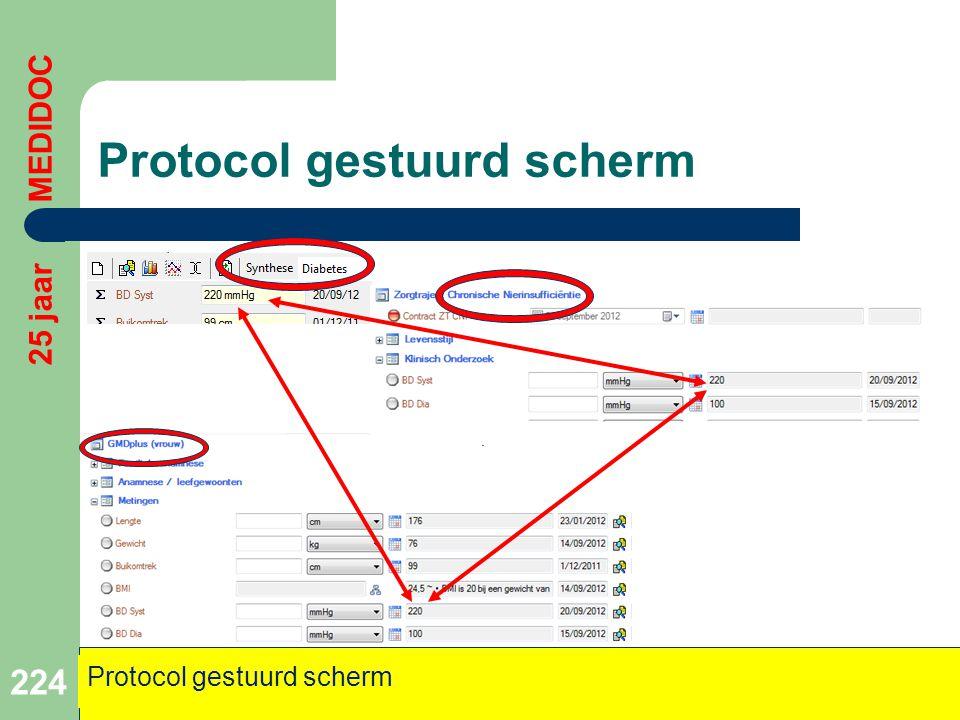 Protocol gestuurd scherm