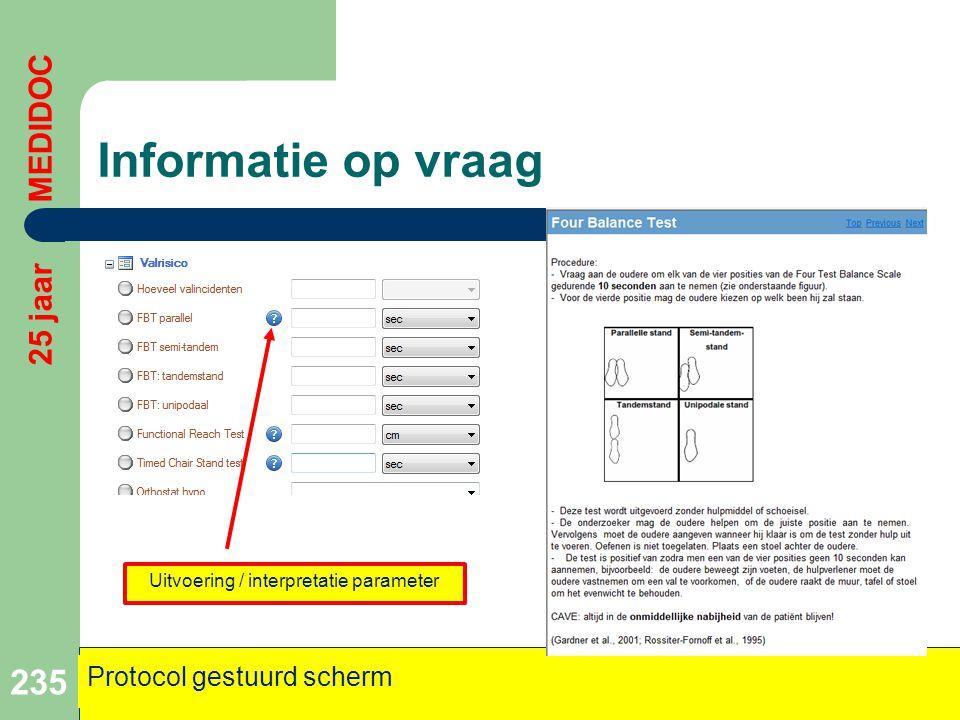 Uitvoering / interpretatie parameter