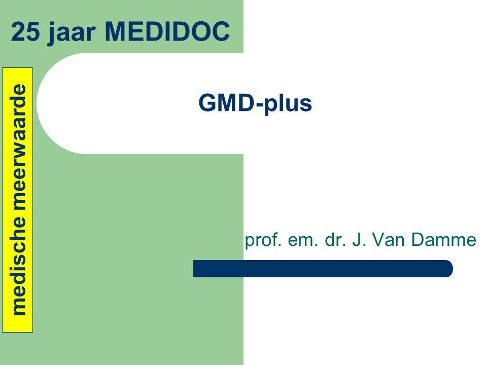 25 jaar MEDIDOC GMD-plus medische meerwaarde