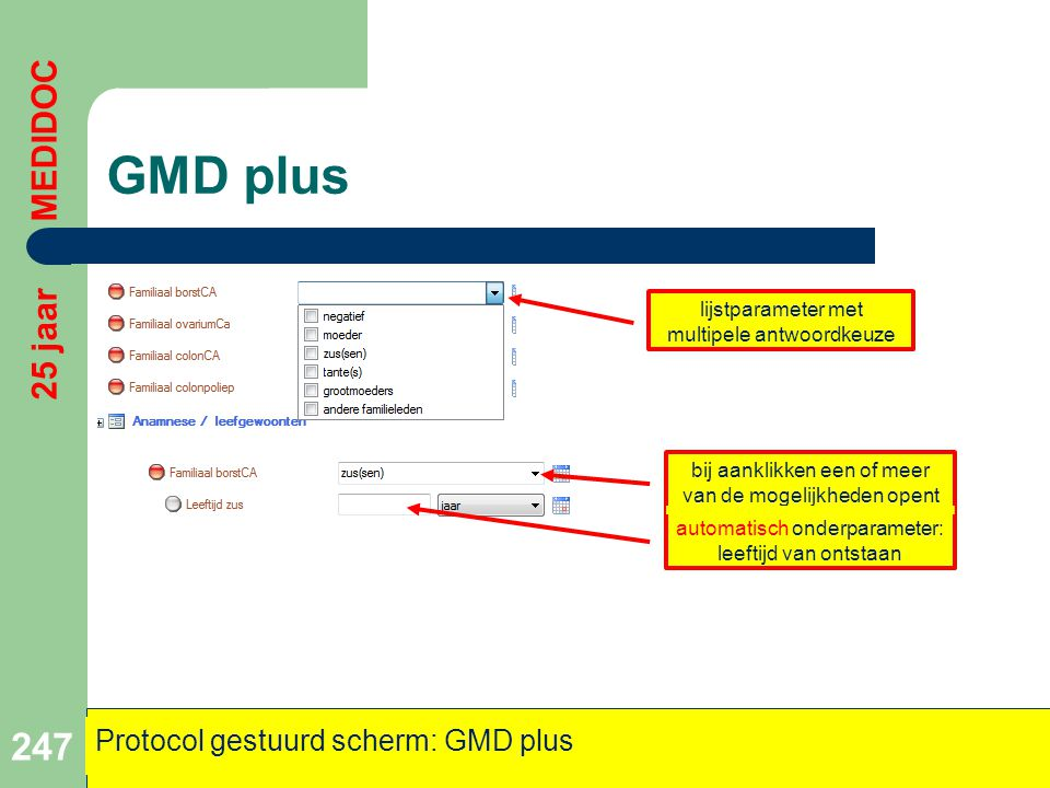 GMD plus 25 jaar MEDIDOC Protocol gestuurd scherm: GMD plus