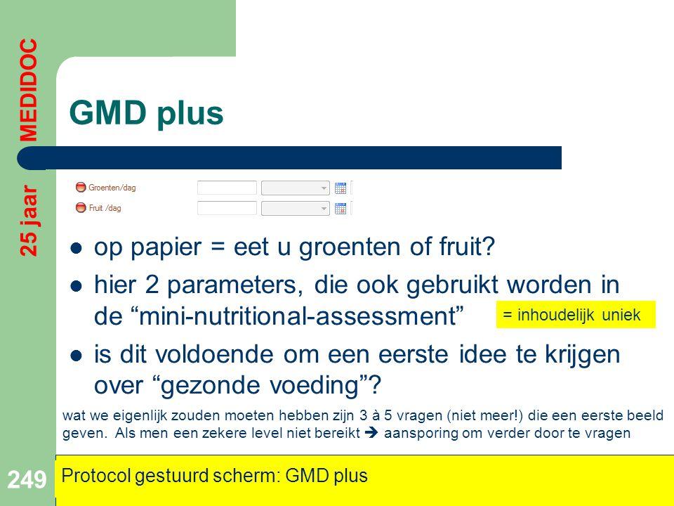GMD plus op papier = eet u groenten of fruit
