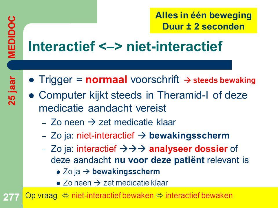 Interactief <–> niet-interactief