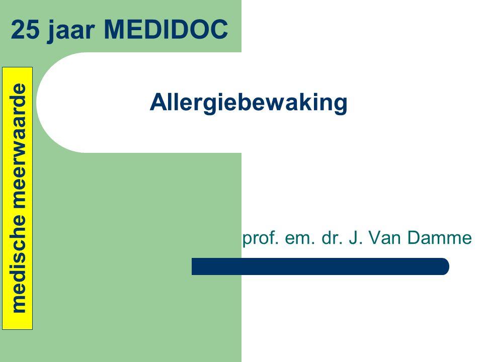 25 jaar MEDIDOC Allergiebewaking medische meerwaarde