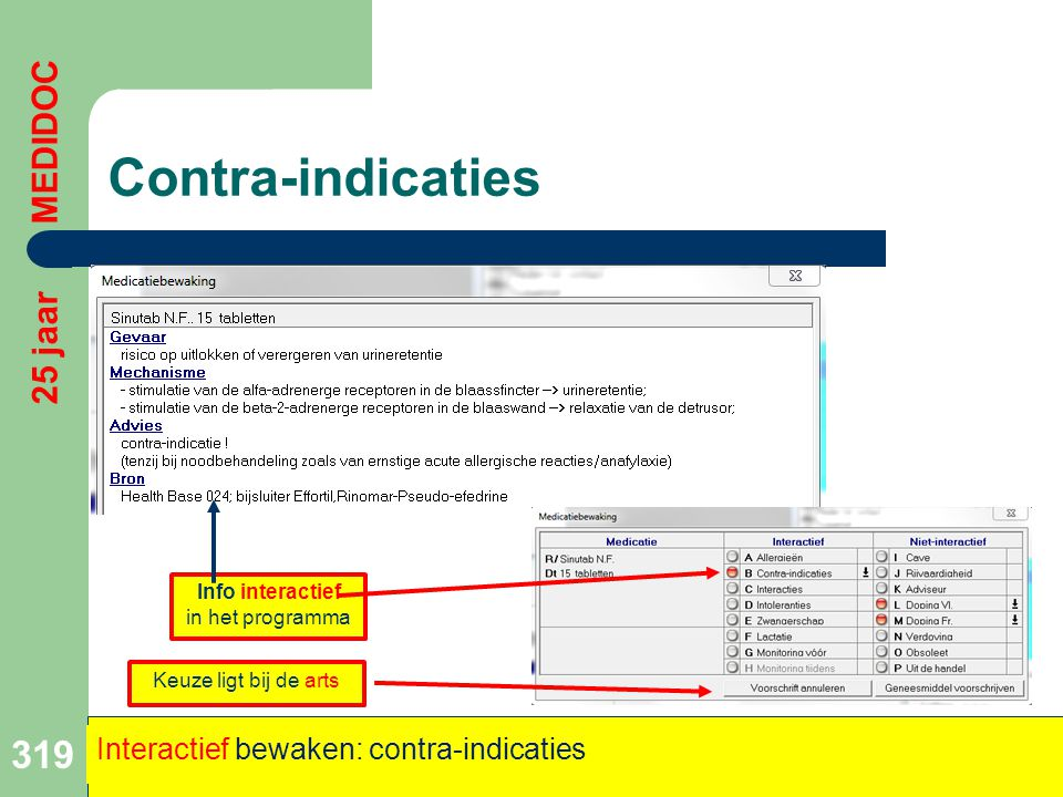 Info interactief in het programma