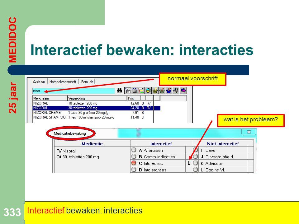 Interactief bewaken: interacties