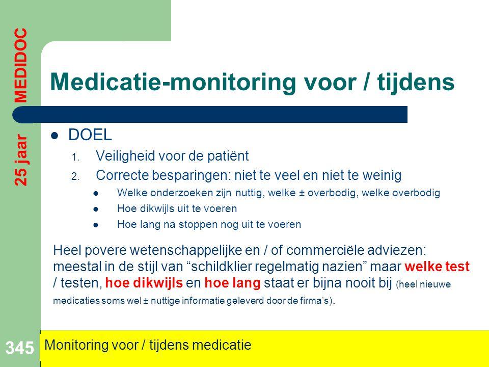 Medicatie-monitoring voor / tijdens