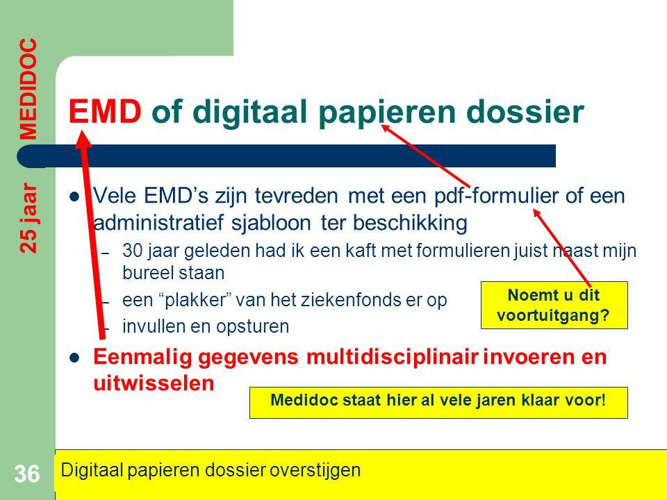 EMD of digitaal papieren dossier