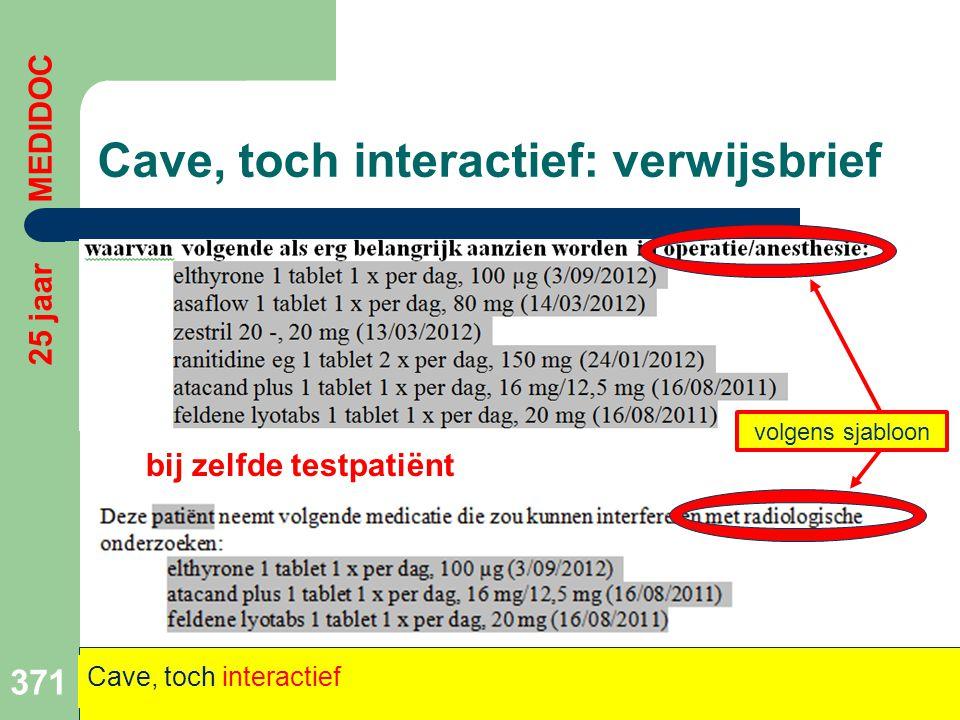 Cave, toch interactief: verwijsbrief