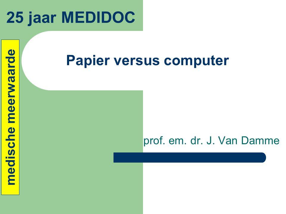 Papier versus computer