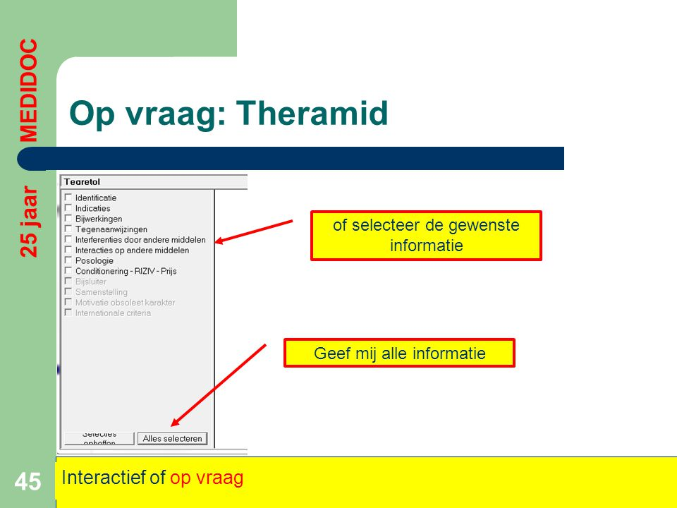 Op vraag: Theramid 25 jaar MEDIDOC Interactief of op vraag
