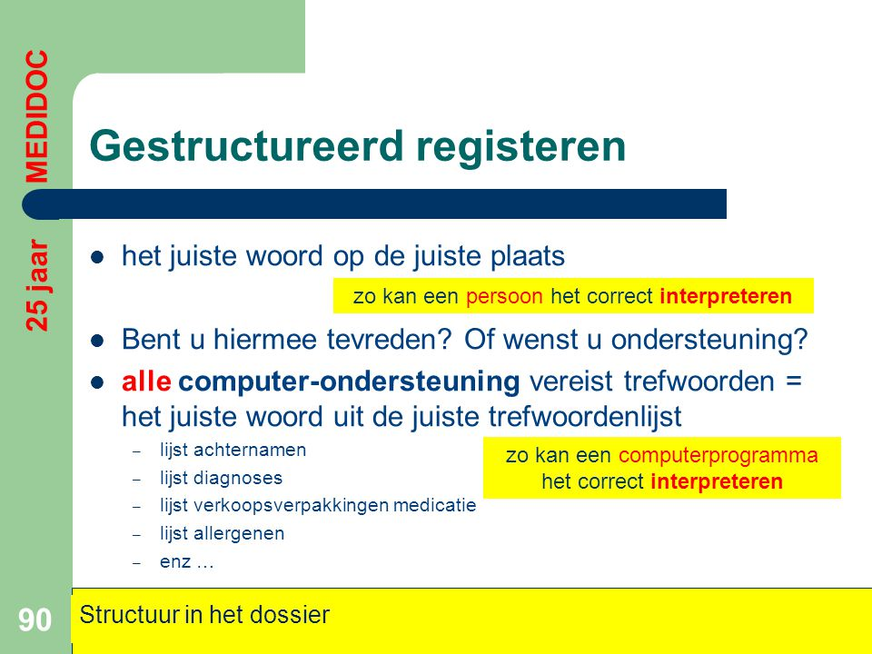 Gestructureerd registeren