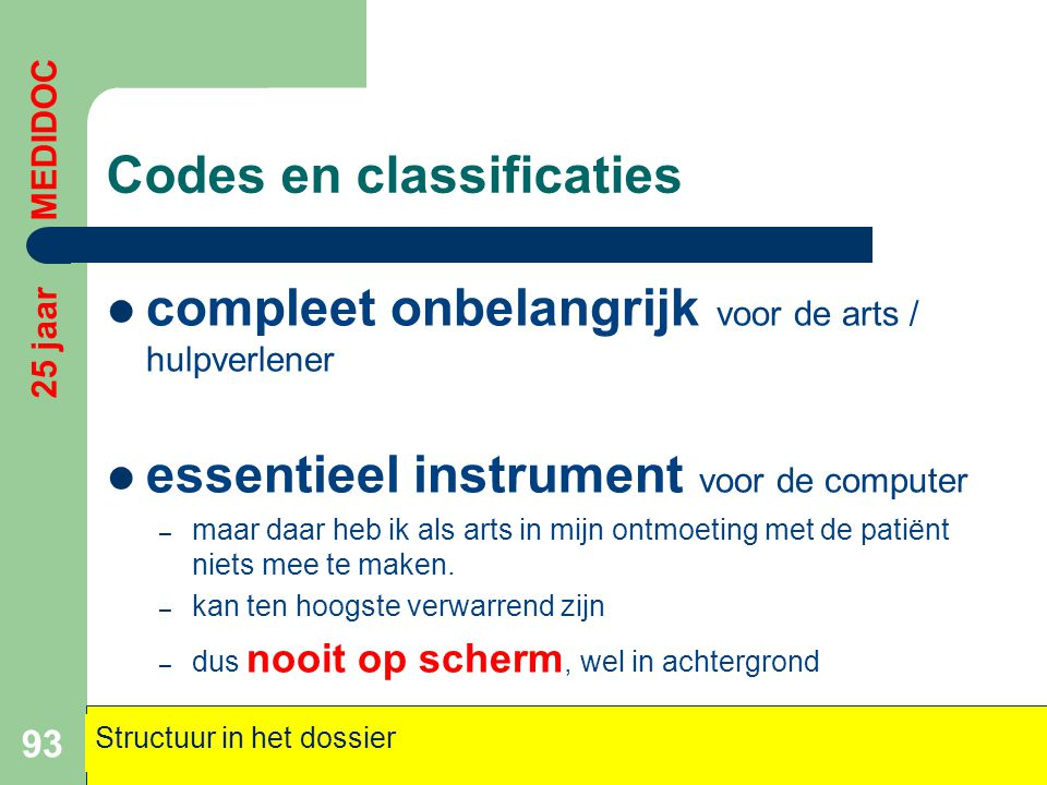Codes en classificaties