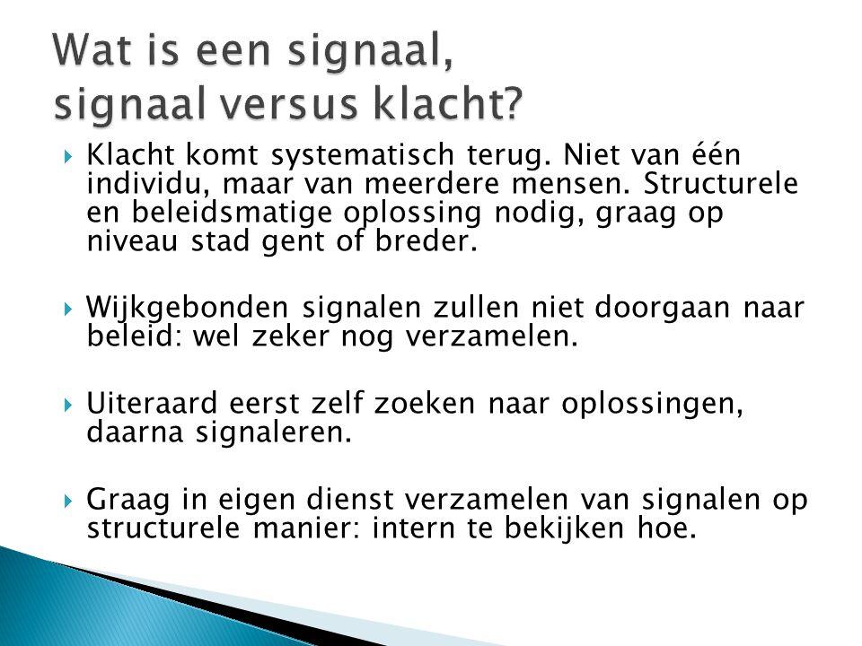 Wat is een signaal, signaal versus klacht