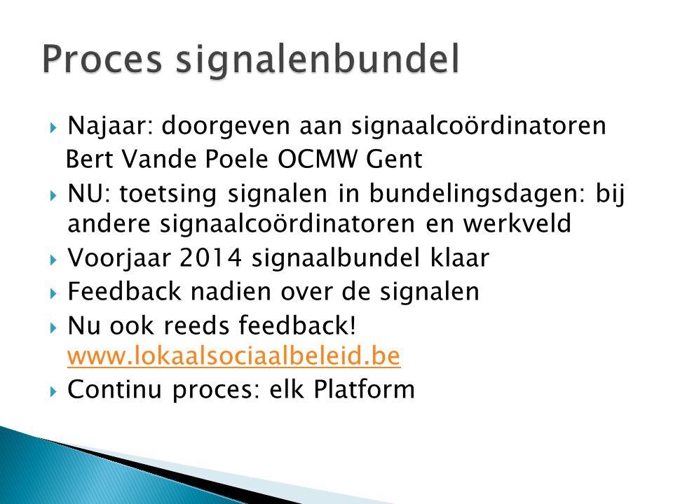 Proces signalenbundel