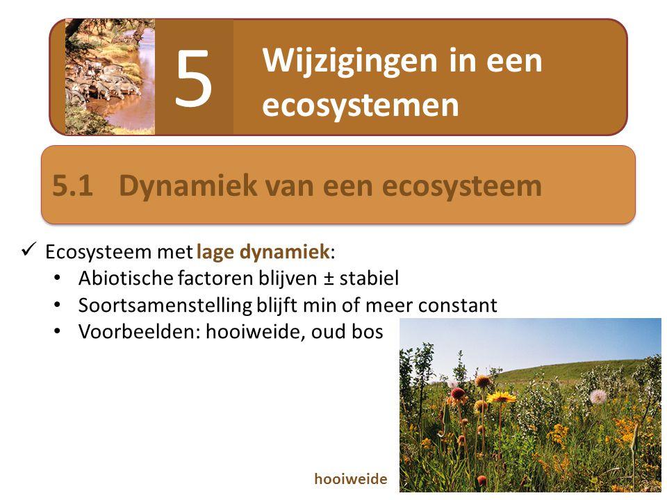 5 Wijzigingen in een ecosystemen 5.1 Dynamiek van een ecosysteem