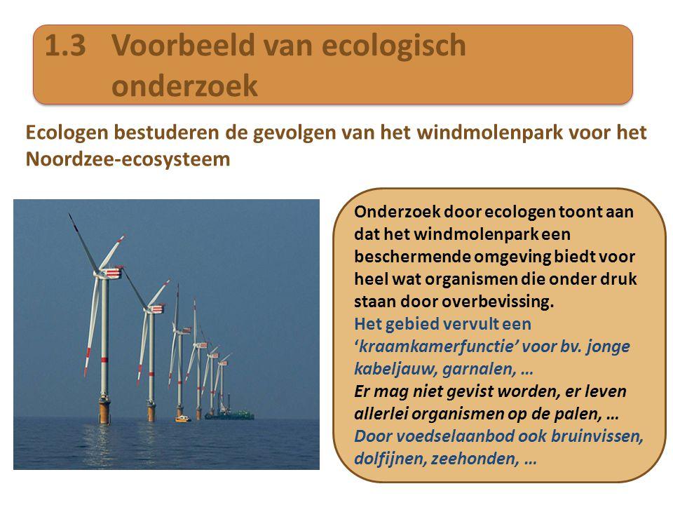 1.3 Voorbeeld van ecologisch onderzoek