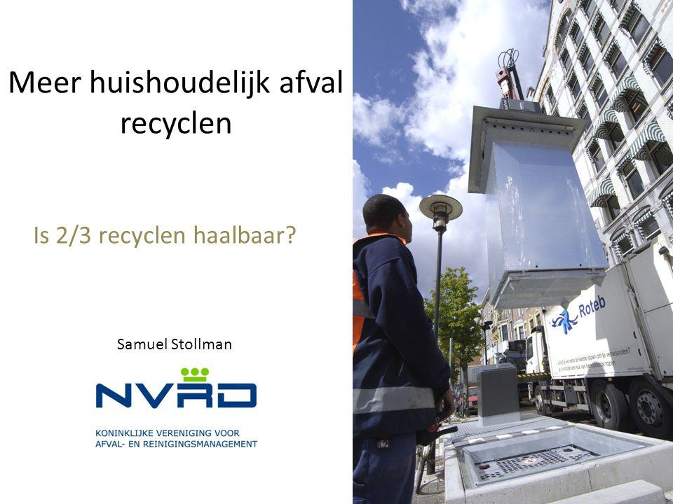 Meer huishoudelijk afval recyclen