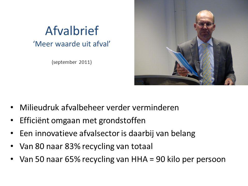 Afvalbrief 'Meer waarde uit afval' (september 2011)