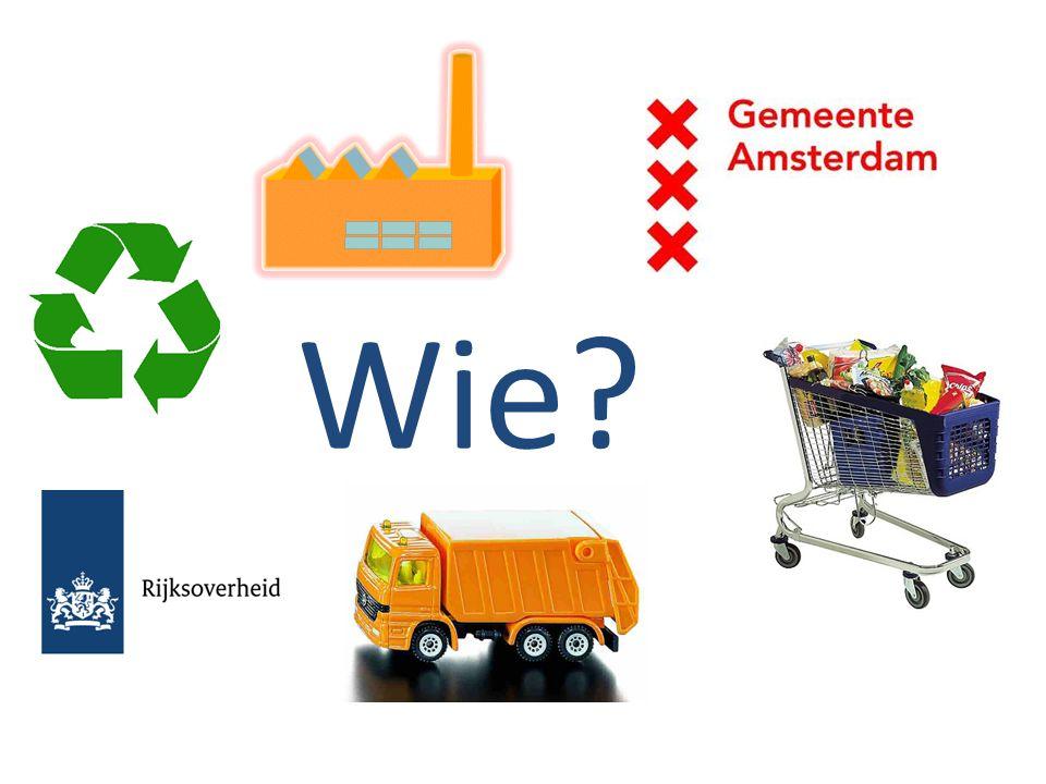Wie De belangrijkste vraag is dan: Wie gaat dit doen Wie gaat ervoor zorgen dat er meer afval gerecycled wordt, en minder wordt vernietigd
