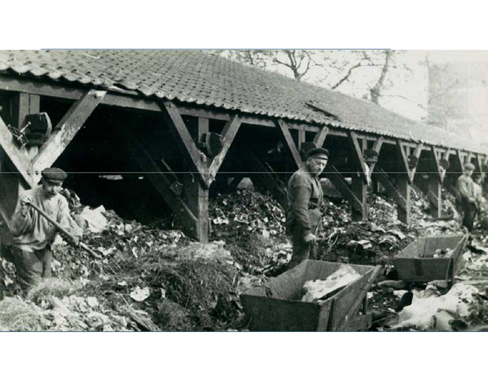 Maar over het algemeen werd het afval naar de gemeentewerf gebracht, en netjes gesorteerd naar bruikbaarheid van het afval.