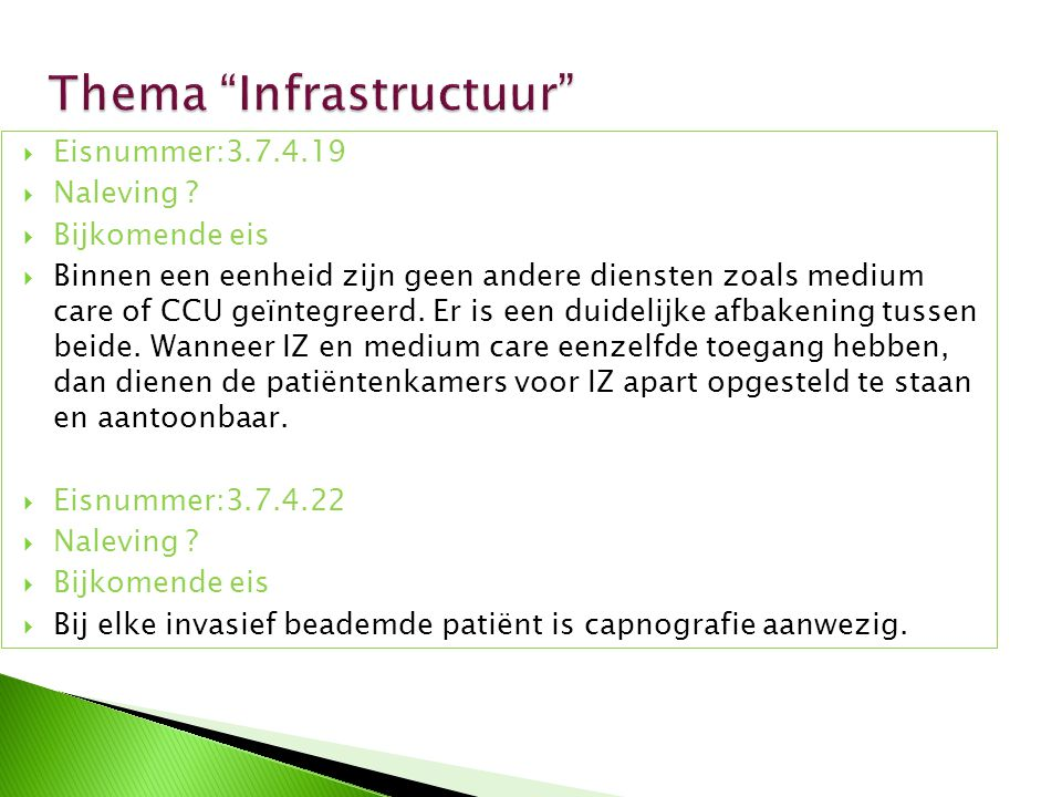 Thema Infrastructuur