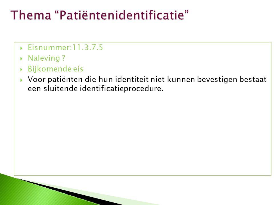 Thema Patiëntenidentificatie