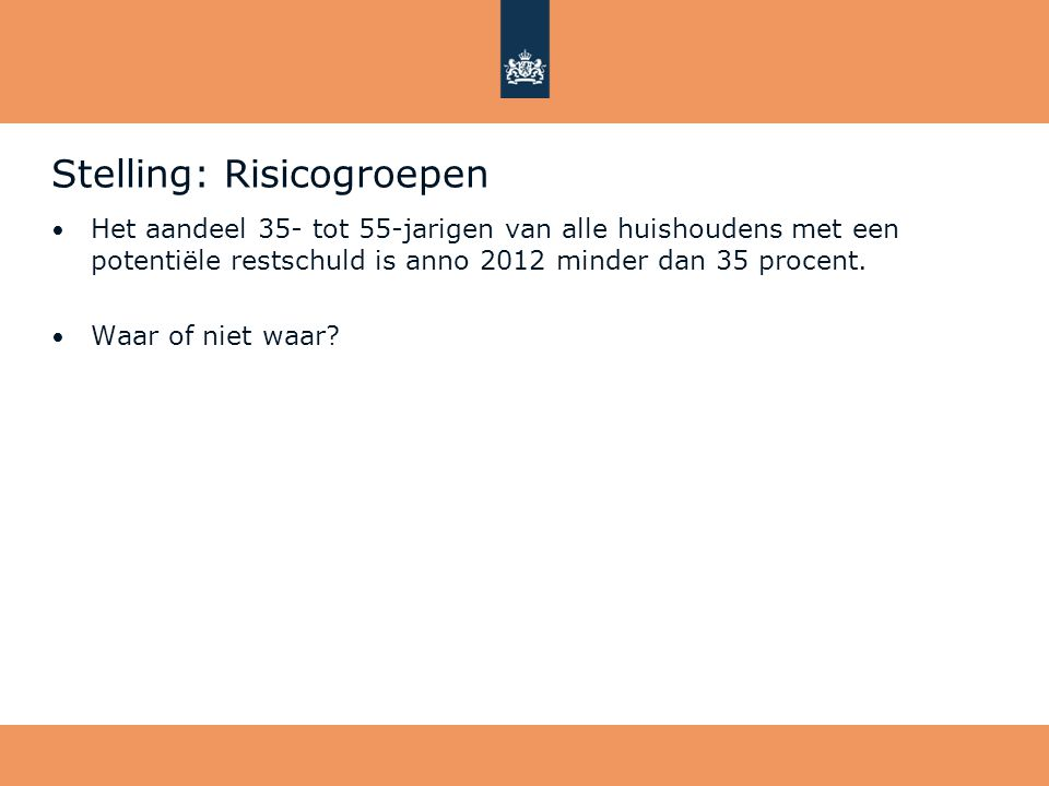 Stelling: Risicogroepen