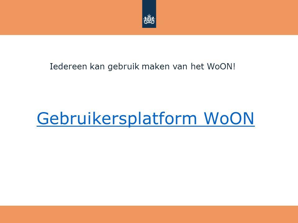 Gebruikersplatform WoON