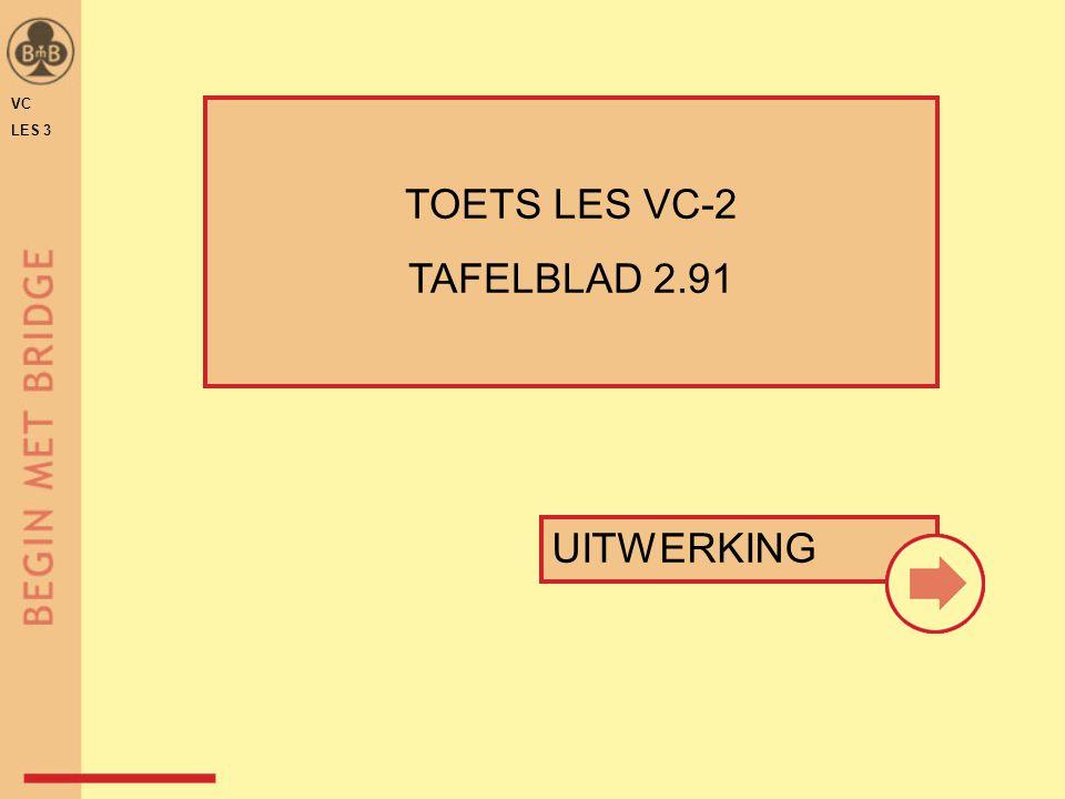 VC LES 3 TOETS LES VC-2 TAFELBLAD 2.91 UITWERKING